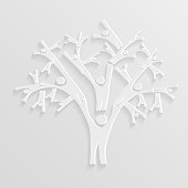 Tree of people bright background. Vector illustration