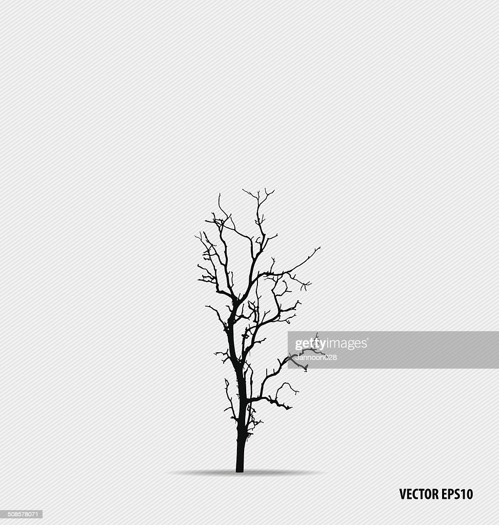 silhouettes d'arbres. illustration vectorielle. : Clipart vectoriel