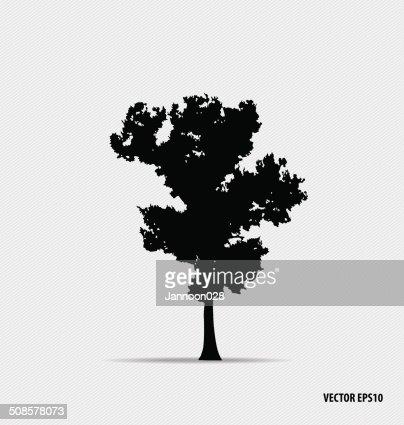 Tree silhouettes. Vector illustration. : Vector Art