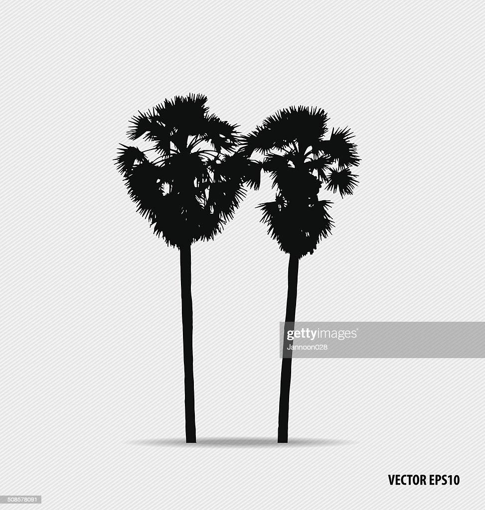 Tree silhouettes. Vector illustration. : Vectorkunst