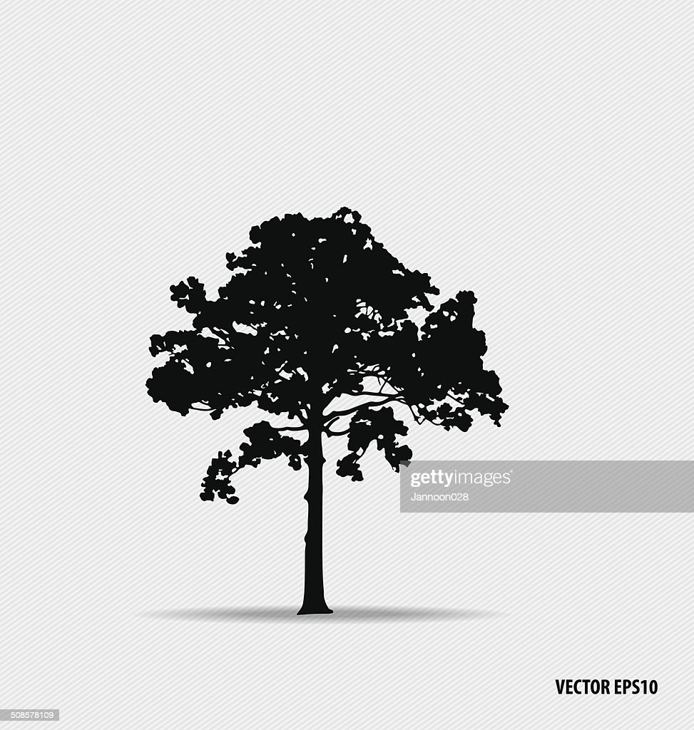 Tree silhouettes. Vector illustration. : Vectorkunst