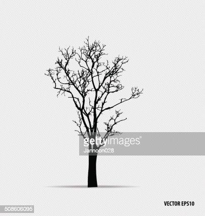Siluetas de árbol. Ilustración vectorial. : Arte vectorial