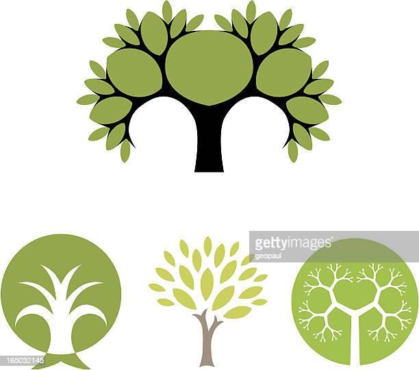 Weihnachtsbaum-Vektor Symbole