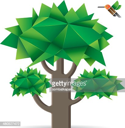 Tree with bird. : Vector Art