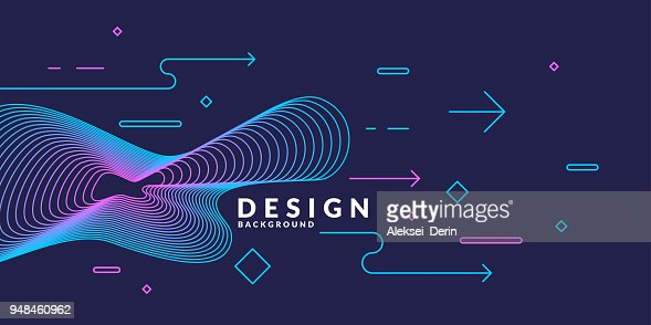 Trendy abstract art geometric background with flat, minimalistic style. Vector poster : stock vector