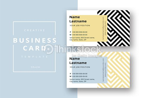 Trendy Minimal Abstract Business Card Template In Black And Gold ...