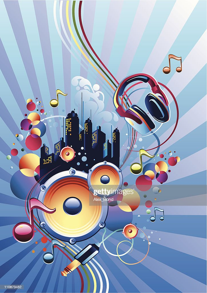 Trendy music : Vector Art