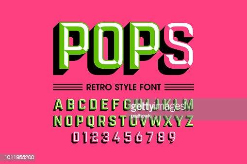 Trendy style pop art font : stock vector