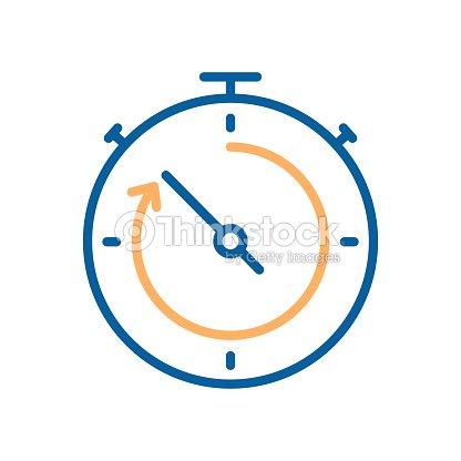 Icne De Mode Fine Ligne Chronomtre Compte Rebours Illustration Vectorielle Pour Les Concepts