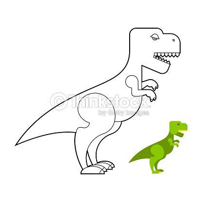 Trex Dinosaur Libro Para Colorear Miedo Grande Tyrannosaurus ...