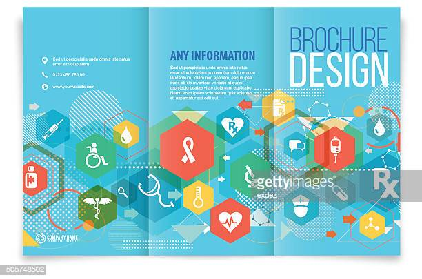 Tri fold brochure design on medical