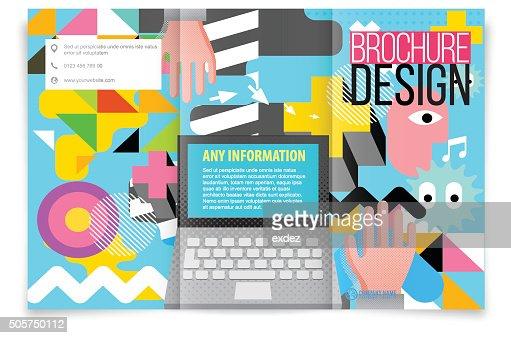Tri Fold Brochure Design On Tech Vector Art – Tri Fold Brochure