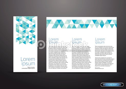 Tri Fold Business Brochure Template Vector Art Thinkstock - Tri fold business brochure template