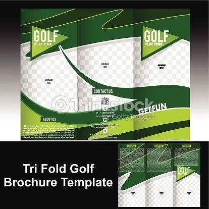 tri fold golf brochure template vector art thinkstock
