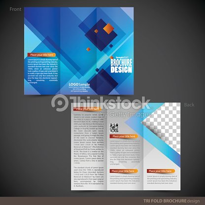 tri folder brochure leaflet mock up vector art thinkstock