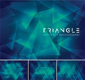 Triangular abstract background. Low poly and geometric vector background series, suitable for design element and web background