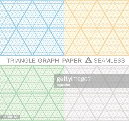 Triangle Graph Paper Vector Art | Thinkstock