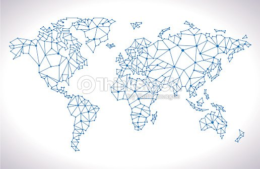 Triangle world map vector art thinkstock triangle world map gumiabroncs Image collections