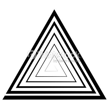 Triangular Spiral A Maze Vector Optical Illusion The Illusion Of ...