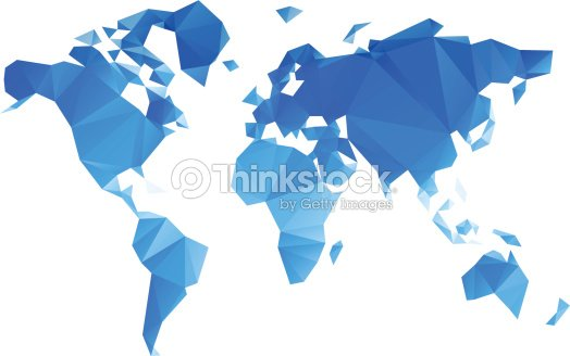 Triangular world map vector file vector art thinkstock triangular world map vector file vector art gumiabroncs Choice Image