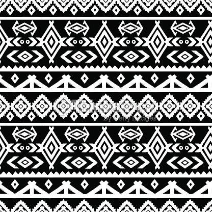 stammeskunst aztec ethnischen nahtlose muster vektorgrafik thinkstock. Black Bedroom Furniture Sets. Home Design Ideas