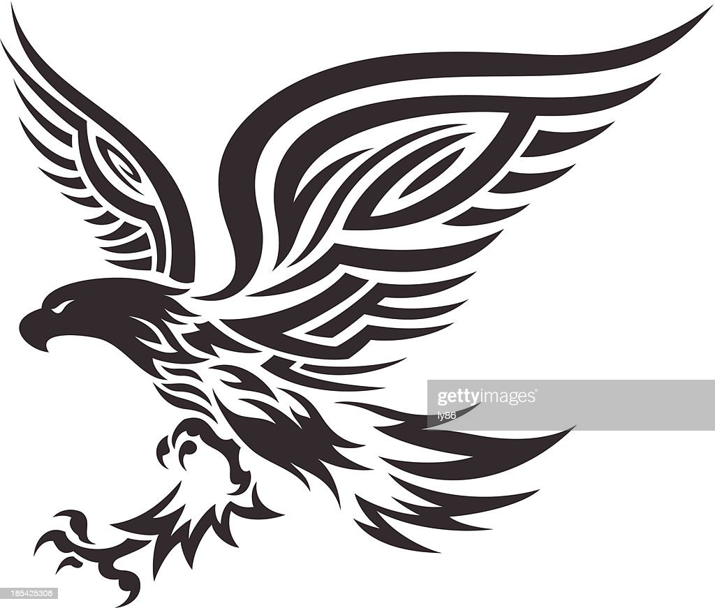 tribal eagle vector art getty images