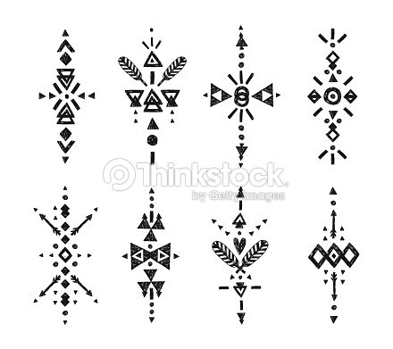 tribal l ments dessin s la main clipart vectoriel thinkstock. Black Bedroom Furniture Sets. Home Design Ideas