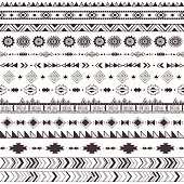 Decorative pattern with tribal motifs