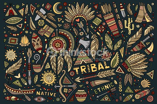 tribal native symbols set vector art thinkstock