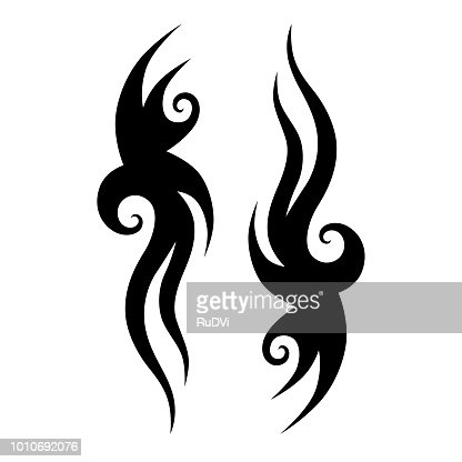Tribal Tattoo Designs Vector Sketch Simple Abstract Black Ornament
