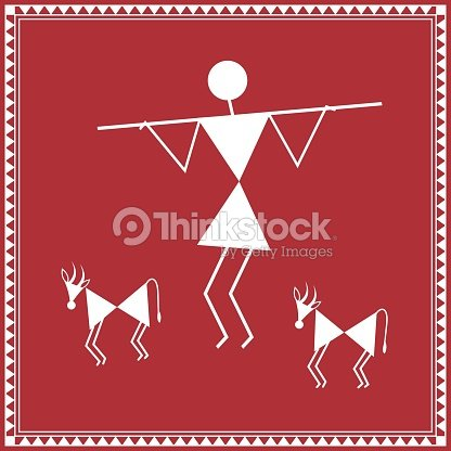 Tribal warli painting of daily activities shepherd with sheep and tribal warli painting of daily activities shepherd with sheep and goat vector art altavistaventures Image collections