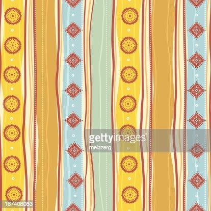 Tribal yellow pattern : Vector Art