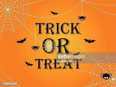 Trick or treat Halloween banner template background : Vector Art