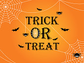 Trick or treat Halloween banner template background