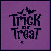 Trick or treat halloween lettering background 10 eps