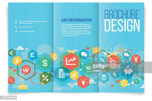 Tri-fold brochure design on business