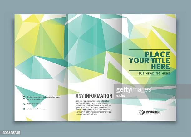 Dreifach gefaltete Broschüre Gestaltung.