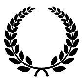 Triumph wreath icon. Simple illustration of triumph wreath vector icon for web