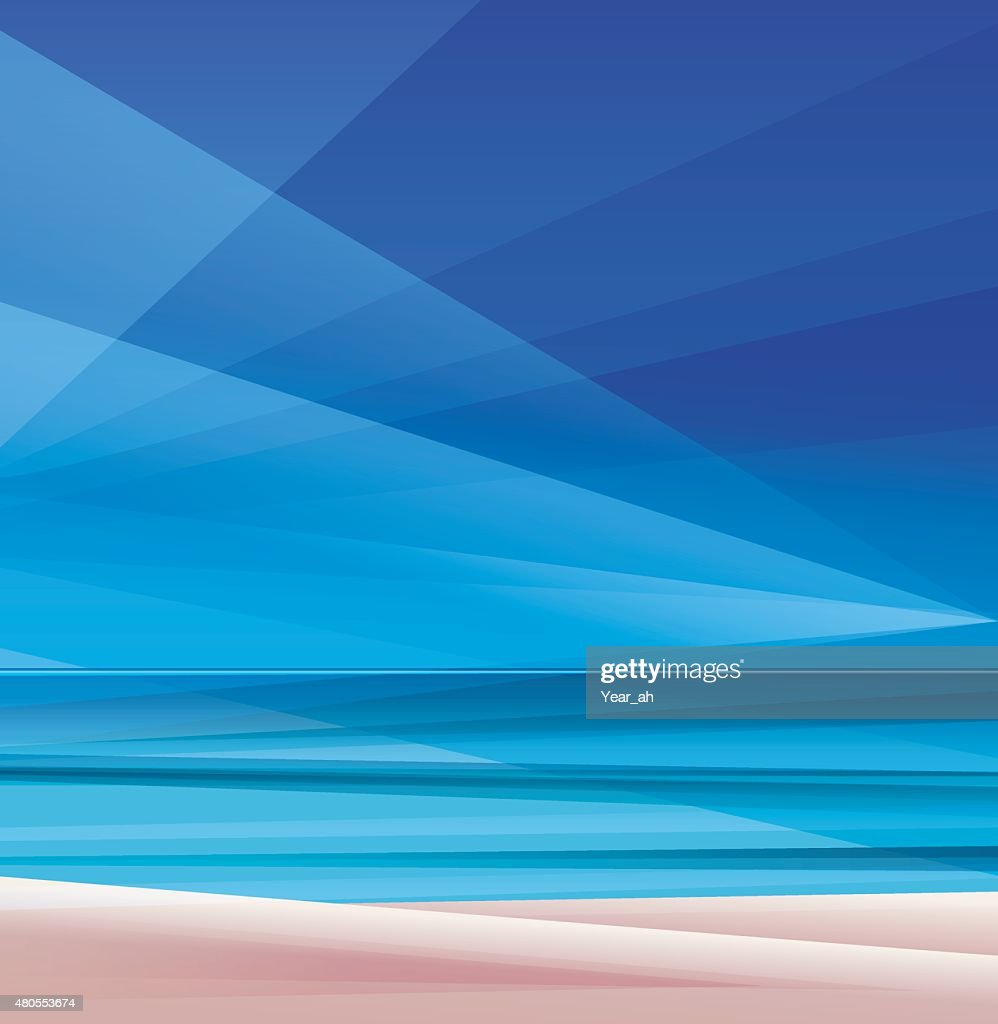 tropic exotic island ocean beach : Vector Art