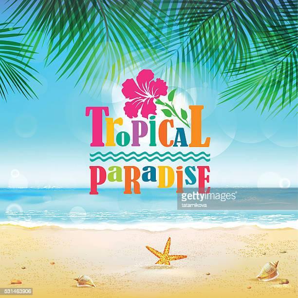 Tropische Hintergrund mit Text-element