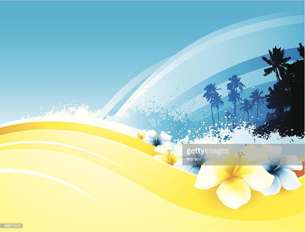 Tropical beach : Vector Art