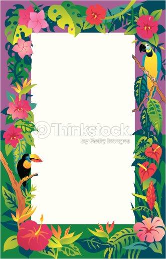 Tropical Border Vector Art Thinkstock
