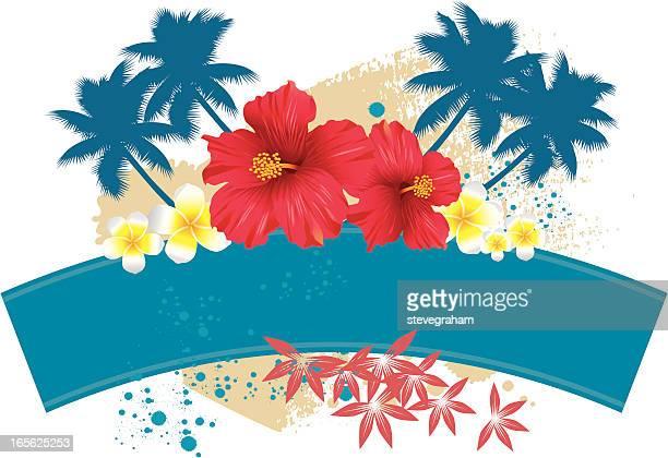 Tropischen Blumenmuster und Motiv
