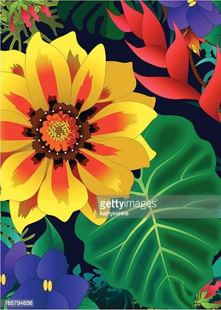 Tropische Blumen Hintergrund