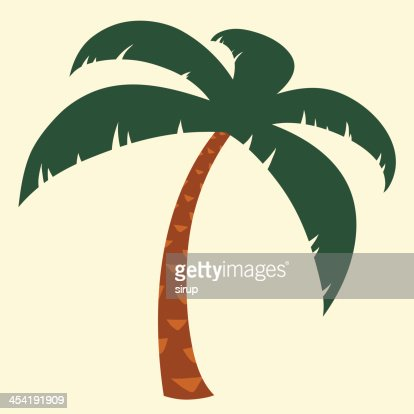 Tropical palm tree medio : Arte vectorial