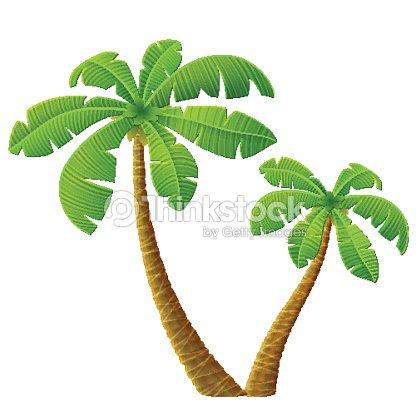 Palmier tropical avec des feuilles clipart vectoriel thinkstock - Palmier clipart ...