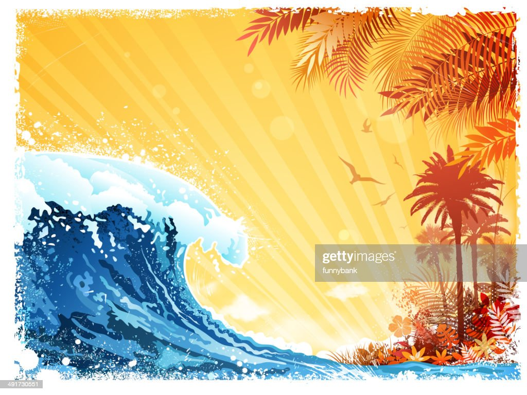 tropical scenic : Vector Art