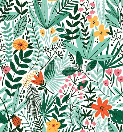 339c39f1956c Tropical Seamless Floral Pattern Autumn Vector Illustration stock ...
