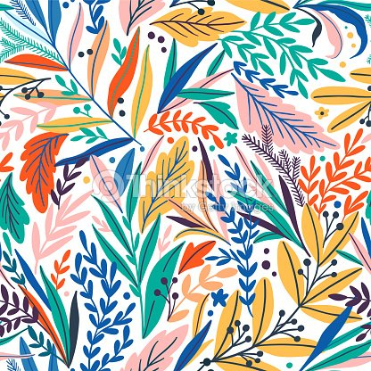Tropical seamless leaves pattern. Vector illustration : stock vector