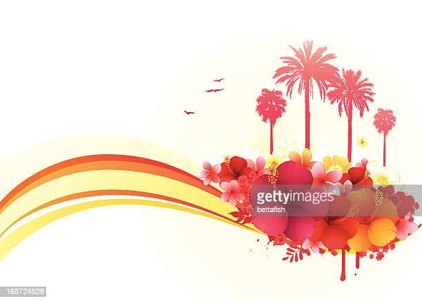 Tropischer Sommer-banner